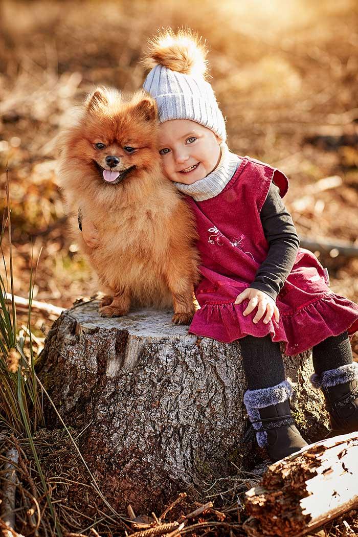 Kinderportrait mit Hund Foto - Barbara Schneider